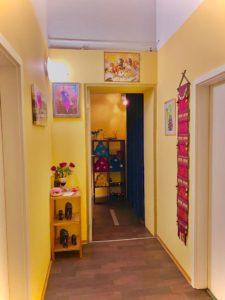 Liebevoll gestalteter Eingangsbereich